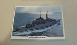 1973 HMS Ambuscade Frigate warship framed picture